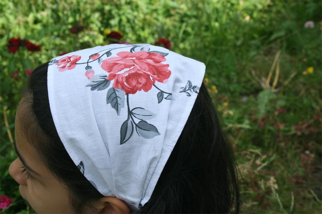 памучна детска кърпа за глава