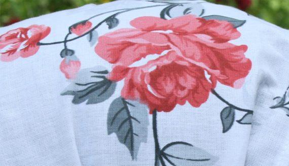 Кърпа за глава'червена роза'
