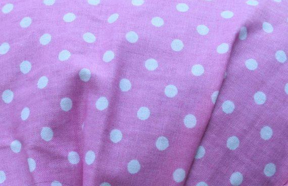Кърпа за коса - розова на точки