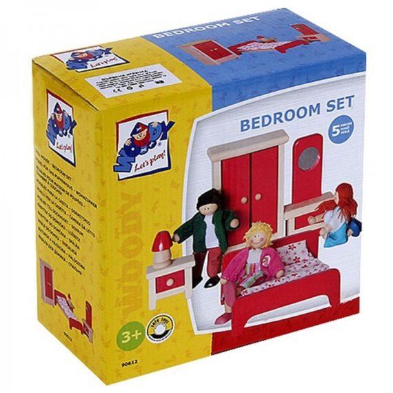 дървена спалня за кукли