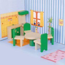 дървена кухня за кукли