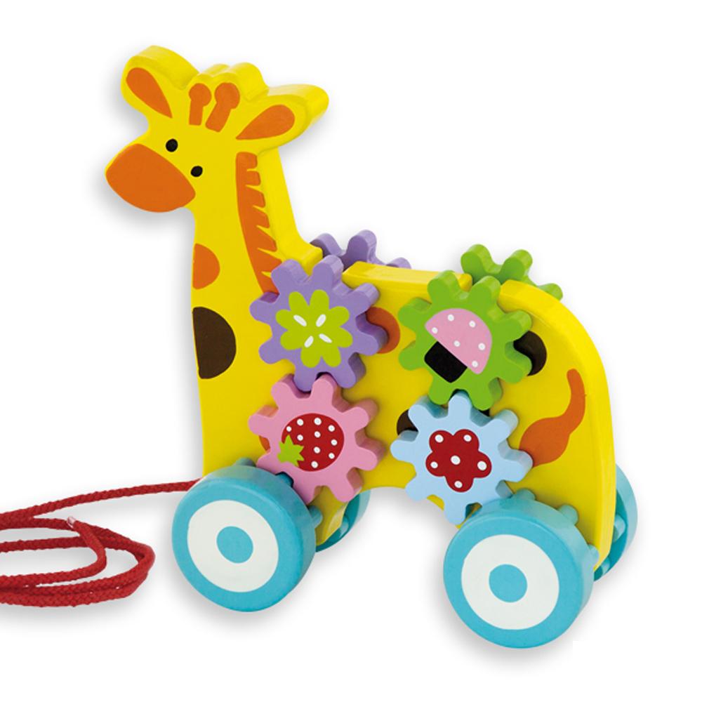 играчка за дърпане жираф