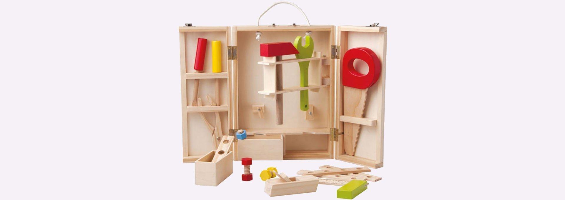 Детско дървено куфарче с инструменти