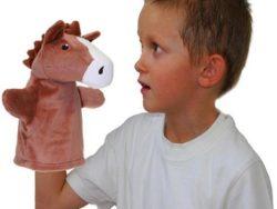 Кукла за ръка за куклен театър кон