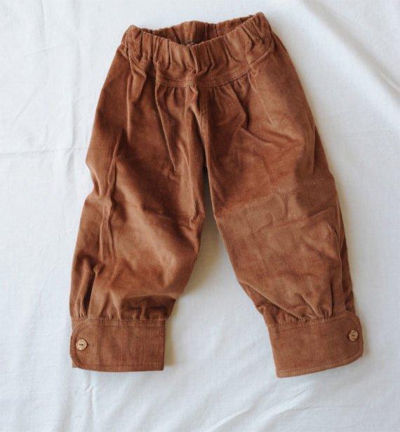 детски панталон 7/8 кадифе
